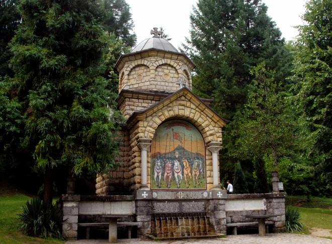 izvor i česma 9 jugovića kod manastira tronoša u blizini loznice