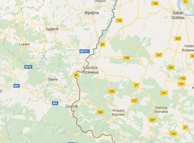 mapa loznice
