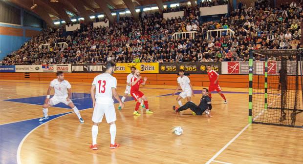 SPEKTAKL U DVORANI LAGATOR: Futsal Srbija - Iran